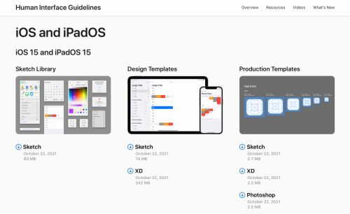 Apple refreshes design resources for iOS 15 with new templates, fonts, and website