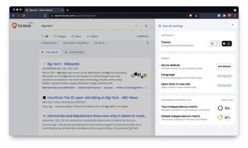 Brave Takes On Google With Privacy Focused Search