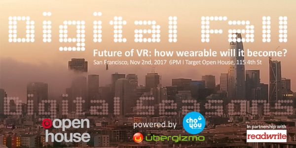 Ubergizmo Digital Fall Event: The Future of VR, Tomorrow in SF