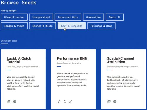 Browser-Based Seedbank For Google's TensorFlow Now Live