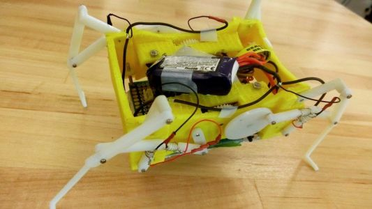 This little robot can melt and re-form its own legs to change its stride