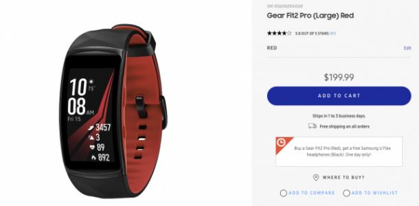 DEAL: Buy the Samsung Gear Fit 2 Pro and get a set of U Flex headphones for free!
