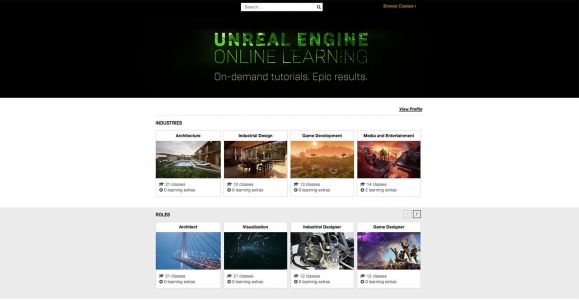 Epic Announces Unreal Engine Online Learning Platform - Learn How to Make Games in Unreal for Free