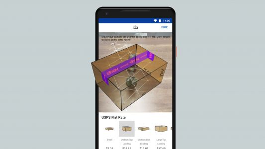 EBay's latest AR bid lets you size up your package before you send it off