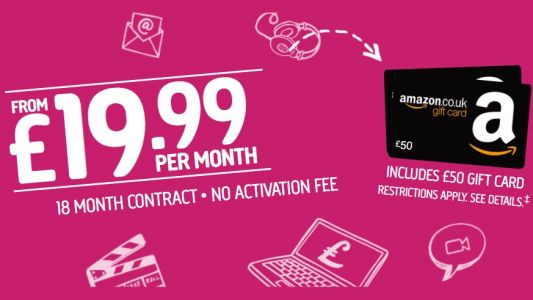 Get a £50 Amazon voucher with Plusnet broadband deals: ends tomorrow