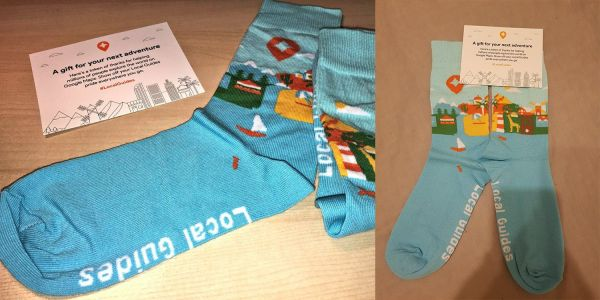 Google is sending free socks to some Local Guides