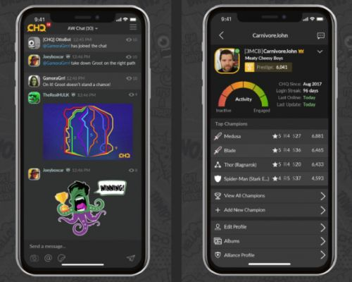 Clan HQ is a messaging app designed for mobile games