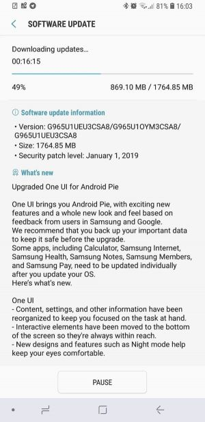 Unlocked Galaxy S9 & S9 Plus Get A Taste Of Android Pie In The US