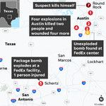 Cell phone triangulation nabs the 'serial bomber' suspect in Texas within a day