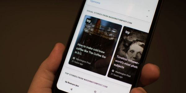 Google displaying AMP stories in the Google Feed on Android