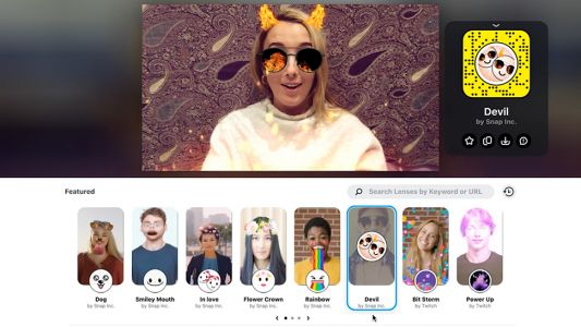 Snapchat Lenses are coming to the desktop and Twitch streams