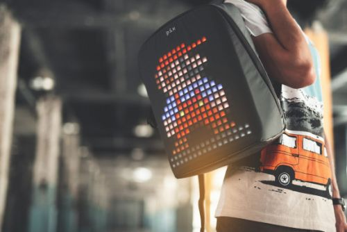 Pix lets you put electronic images on your smart backpack