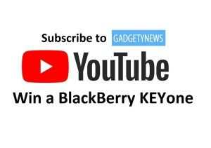 Win a BlackBerry KEYone - GadgetyNews YouTube