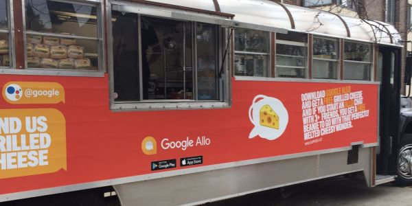 Google continues Allo marketing with swag and grilled cheese food truck
