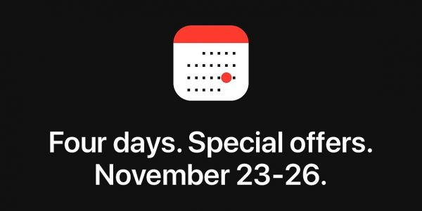 Apple holding 'four days of special offers' event for Black Friday through Cyber Monday