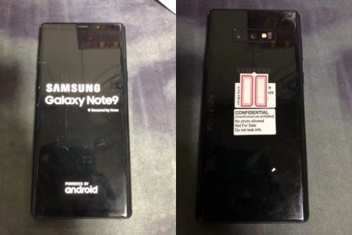 Samsung Galaxy Note 9 Poses For The Camera