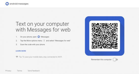 Google launches a Web client for Android's SMS app