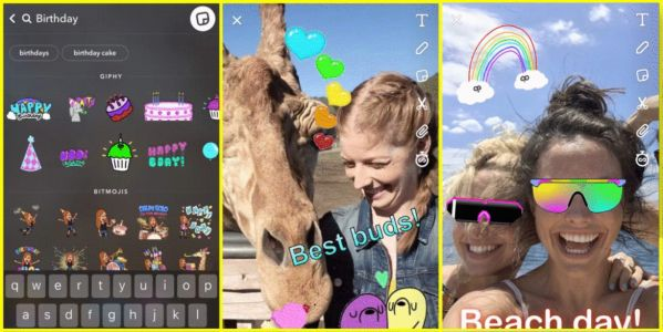 Snapchat update adds animated stickers with GIFs from GIPHY, new Stories and Discover tabs coming soon