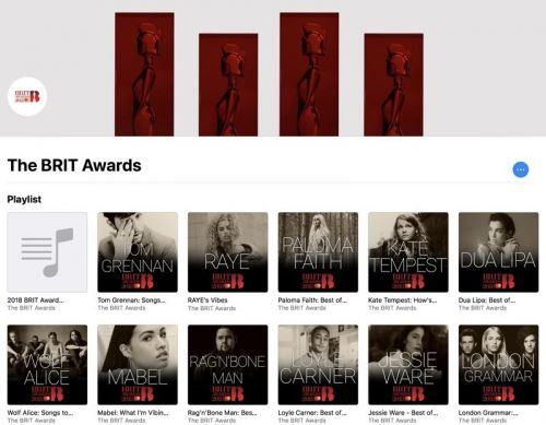 Apple Partners With 2018 BRIT Awards, Shares New Apple Music Feature and Playlists