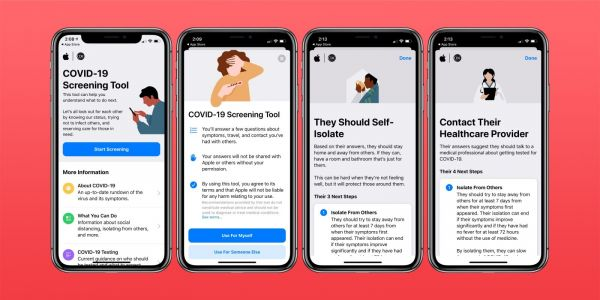Apple updates its COVID-19 app with new testing and symptom screening questions