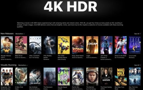 Apple Highlighting 4K HDR Movies in iTunes Ahead of Apple TV 4K Launch
