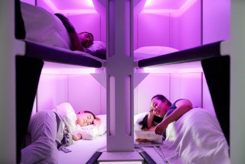 Air New Zealand Unveils Bunk Bed Seats For Economy Travelers