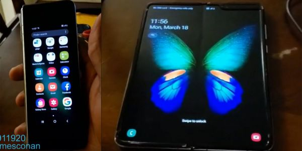 Samsung Galaxy Fold gets brief hands-on to show off display crease, apparent eSIM support