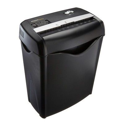 Destroy six pieces of paper at the same time with this $24 AmazonBasics paper shredder