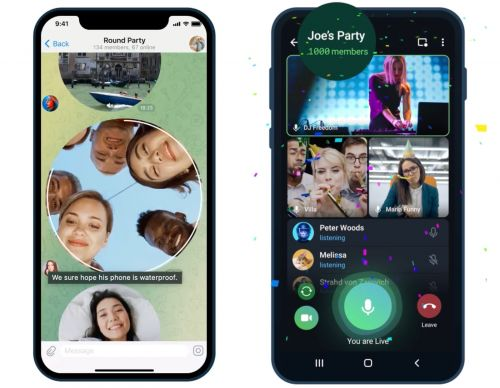 Bumper Telegram Update Enables Video Calls With Up to 1,000 Viewers