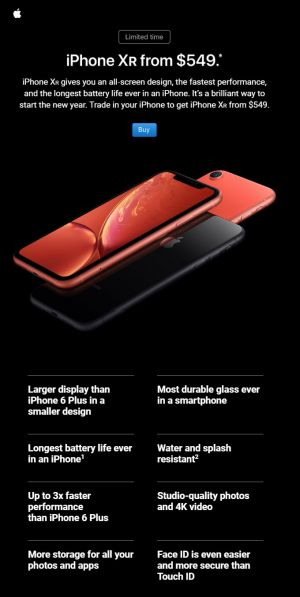 Apple Targeting Users of Older iPhones With iPhone XR Email Campaign