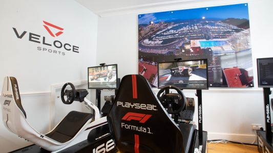 The world's first professional esports racing hub has opened