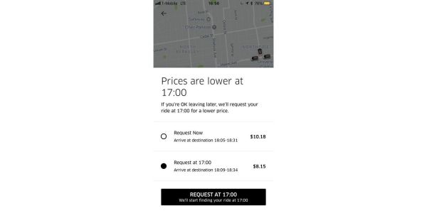 Uber testing feature that offers a cheaper ride if you wait a few minutes