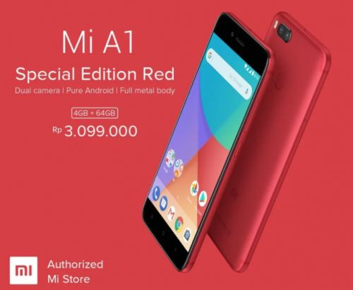 Xiaomi Mi A1 finally comes in a stunning special edition red