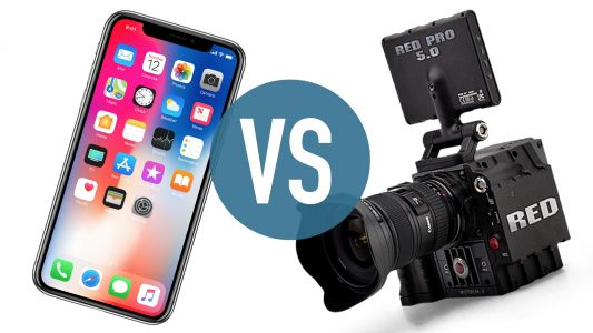 IPhone X vs Red Scarlet-X: smartphone vs cinema camera