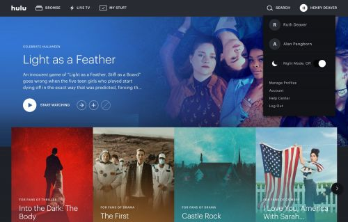 Hulu gets a new look for the night-time hours