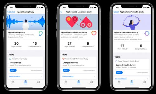 Apple Updates Research App With COVID-19 Survey, Hearing Study Noise Test