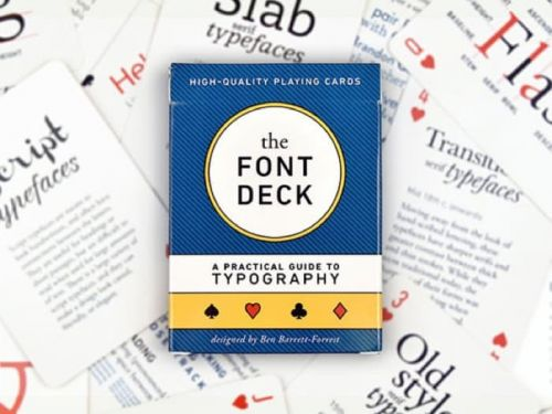 Design and Font Deck Playing Cards, Save 25%