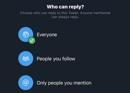 Twitter iOS App Now Lets All Users Limit Who Can Reply to Their Tweets