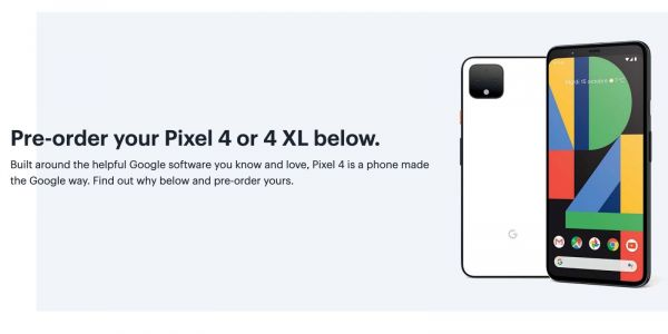 Pixel 4 fully detailed by Best Buy Canada with specs, comparison, and pre-order