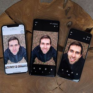 Which phone has the best front camera for selfies?