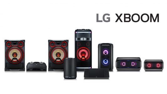 LG's Xboom brand now includes smart speakers and a plethora of glowing LEDs