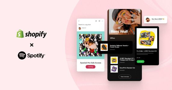 Shopify and Spotify want to help artists drive business to their online stores