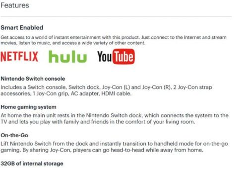 Best Buy Hints Netflix & YouTube Are Coming To The Nintendo Switch