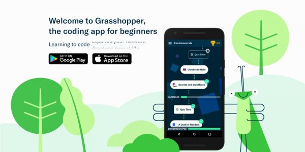 'Grasshopper' is an app out of Google's Area 120 incubator that'll teach you how to code