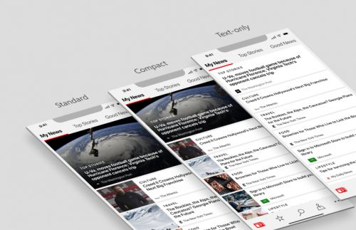 Choose your own layout with updated Microsoft News app