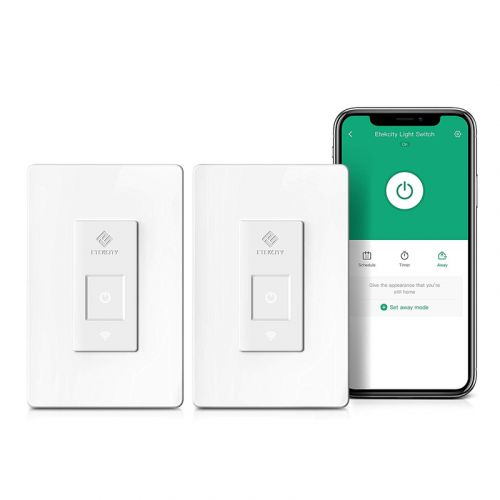 Set schedules and timers with two Smart Light Switches on sale for $26