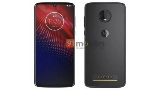 Leaked render shows what the Moto Z4 could look like