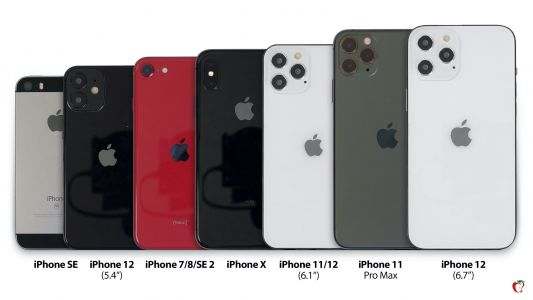 IPhone 12 Sizes Compared with iPhone SE, 7, 8, SE 2, X, 11, 11 Pro and 11 Pro Max