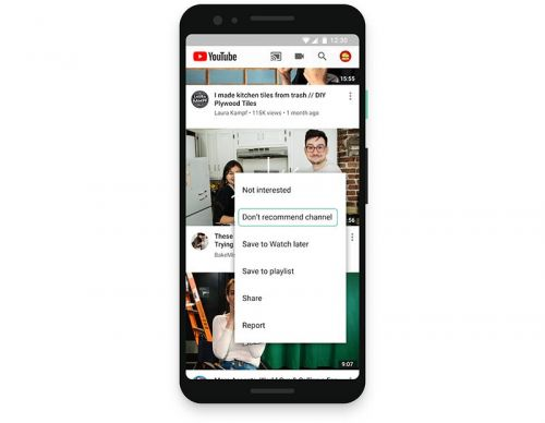 YouTube Adds 'Don't Recommend Channel' and New Explore Tools for Finding Content