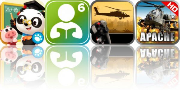 Today's Apps Gone Free: Dr. Panda School, 6th Grade Vocabulary Challenge, Apache 3D Sim and More